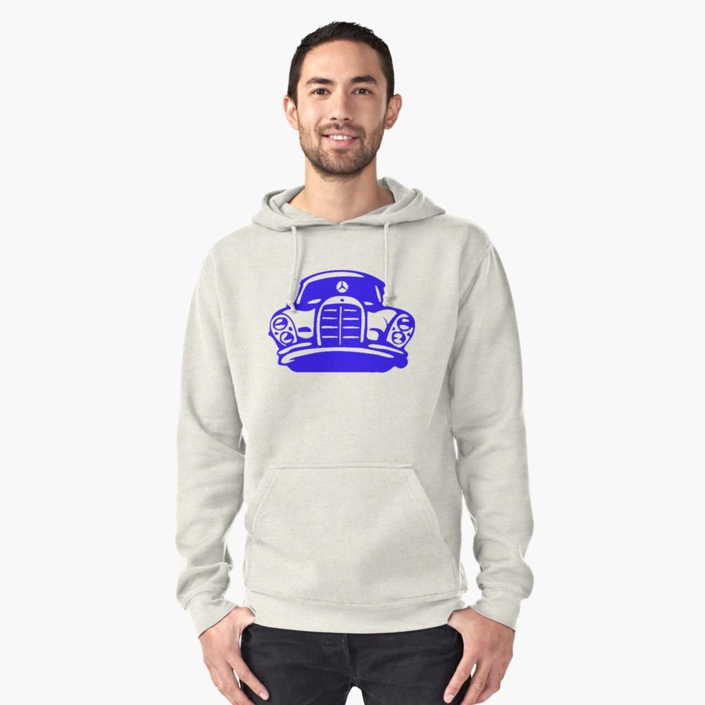 Blue MBZ Car Artwork Hoodie